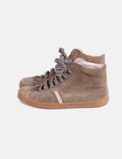Chaussures marron abotas de sport tobilloada Hakei
