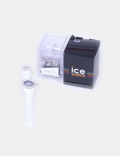 Reloj blanco con cristales Swarosky Ice Watch