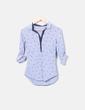 Camisa de rayas azules Zara