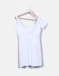 Vestido branco texturizado Zara