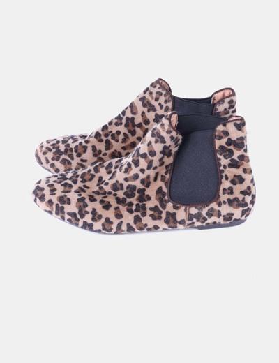 Bottines de cheveux imprimé léopard Green Coast