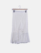 Falda crochet blanco roto con volantes Zara