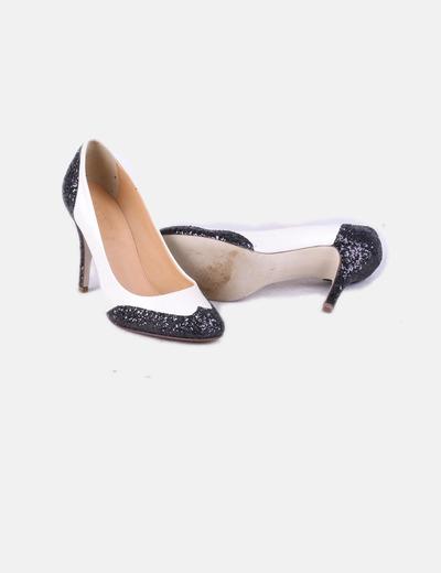 Chaussure deux couleurs couleurs deux paillettes à talon réduction 80 ca3384