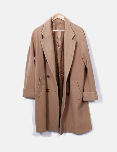 Abrigo de cashmere beige Artein