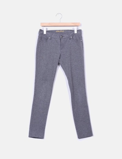 Pantalón pitillo gris Denim Co.