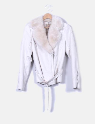 Salsa De descuento 71 Pelo Jeans Borrego Con Blanca Chaqueta rtHrwqBv