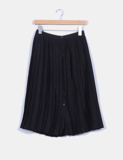 1218fb0cf Falda negra midi tablas