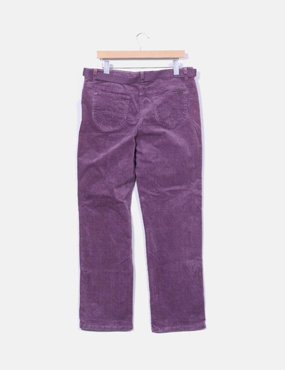 Pantalon de pana malva