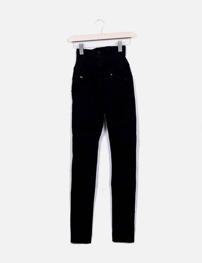 Jeans denim tiro alto negro push up Salsa Jeans