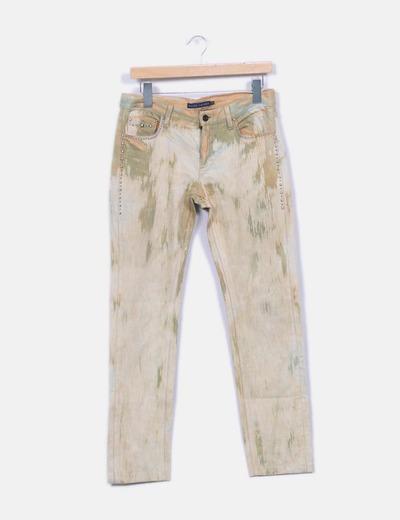 Jeans verts denim ethnique Ralph Lauren