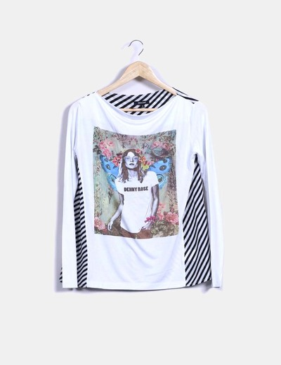 Blusa blanca combinada  Denny Rose
