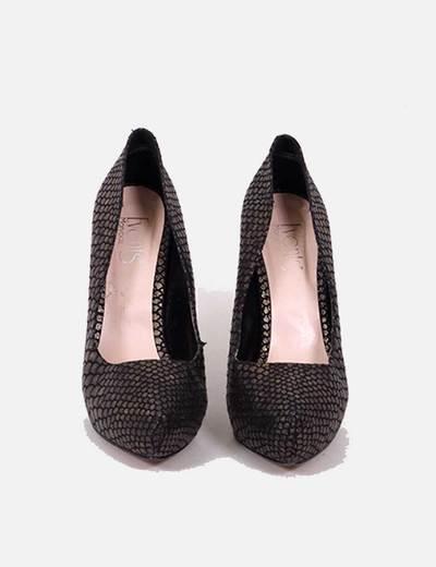 c54ea880 Marypaz Zapatos tacón efecto piel serpiente dorados (descuento 81 %) -  Micolet