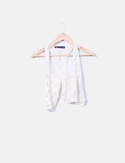 Zara Gilet con lacci bianco (sconto 94%) - Micolet 801eea880eb