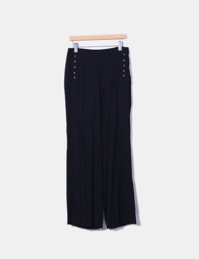 Pantalons noirs palazzo avec clous Zara