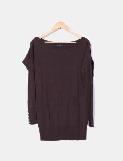 Suéter marrón Stradivarius