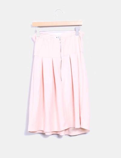 Vestido rosa palo texturizado