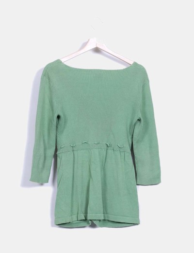 Top tricot verde