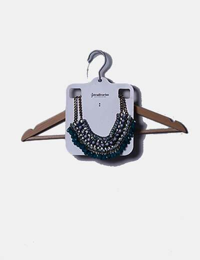 Maxi collar verde abalorios