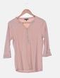 Camiseta rosa mangas francesa Massimo Dutti