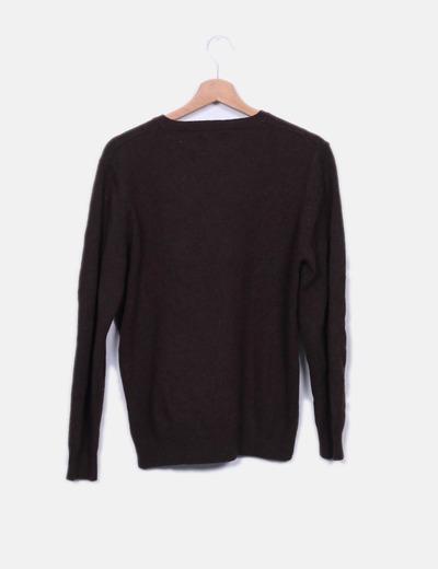 Jersey de lana marron oscuro