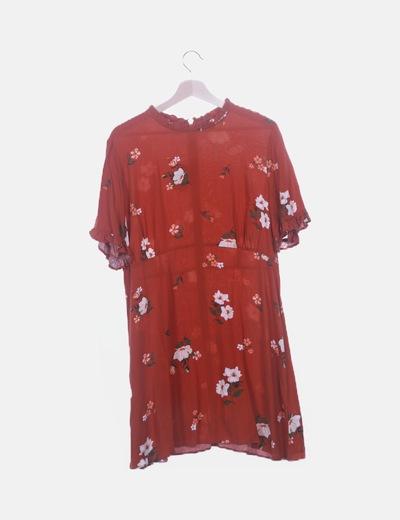 Vestido teja estampado floral