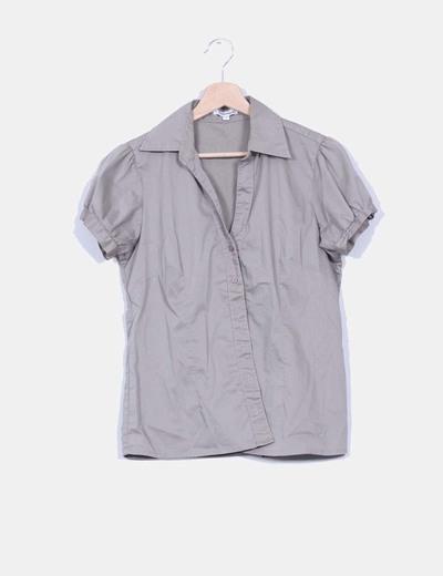 Camisa camel manga corta NoName