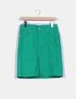 Falda midi verde Zara