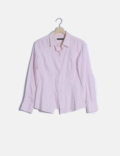 Camisa rosa manga larga rosa palo