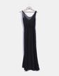 Maxi vestido negro semitransparente Zara