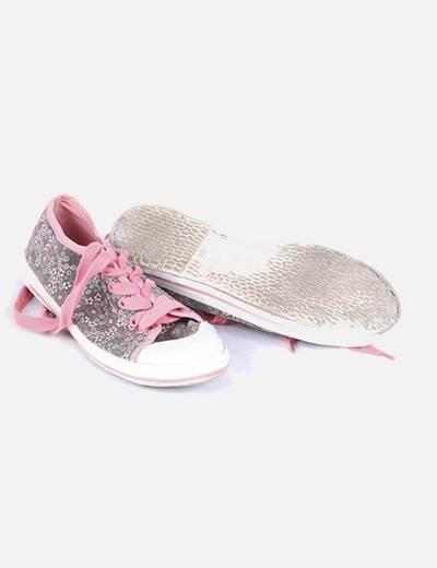 el más nuevo ee2c0 e6fa8 Zapatillas cordones rosas