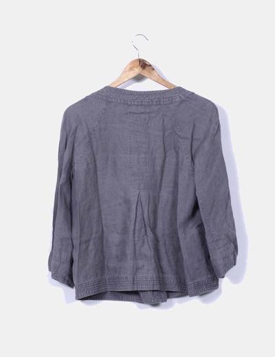 Chaqueta gris de lino