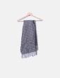 Bufanda de cashmere gris estampada Made in Italy