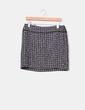 Mini falda tweed tonos grises  H&M