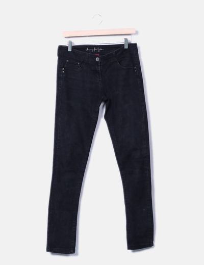 Pantalon denim negro skinny fit Denim Co.