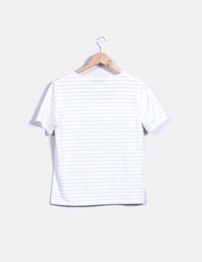 Camiseta cruda de rayas