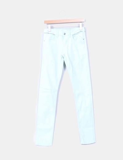 Pantalon turquoise denim Promod