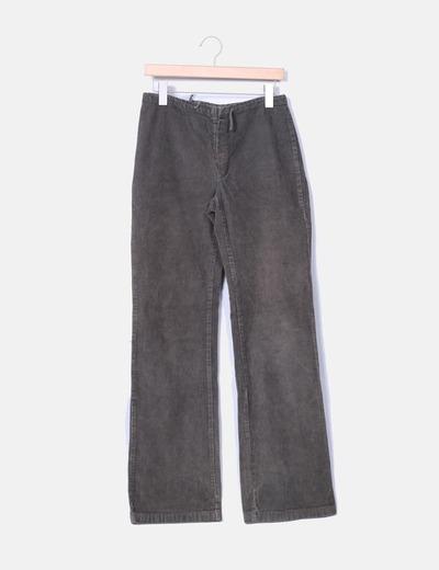 Pantalon vert bootcut velours côtelé Zara