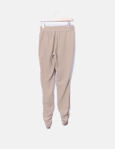 Pantalon bajo fruncido