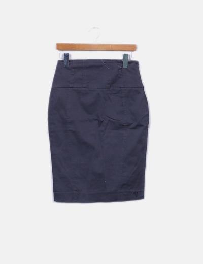 Falda midi gris estampado puntos Pepe Jeans