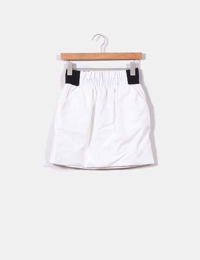 Falda globo blanca  Zara