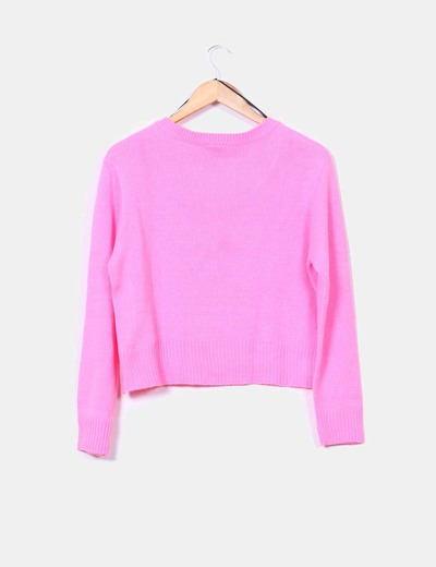 Jersey de punto ingles rosa fluor