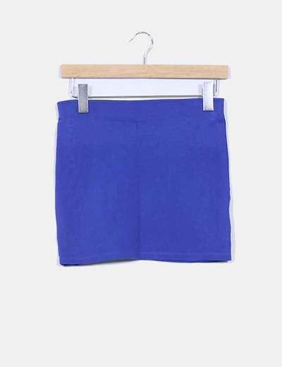 Mini falda azul klein elástica Zara