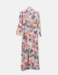Maxi floral dress with buttons T&F