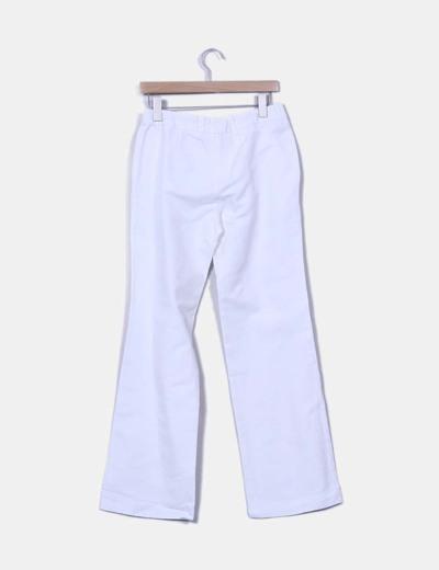 Pantalon pinzas blanco