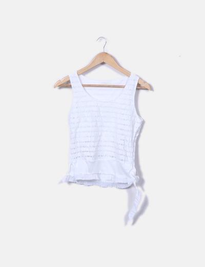 Conjunto top y minifalda blanca