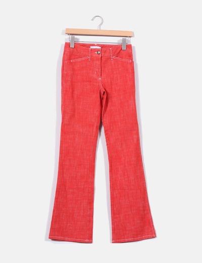 Jeans acampanado rojo  Hennes