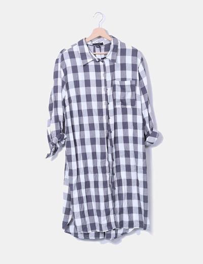 Vestido camisero de cuadros Primark