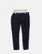 Jeans pretos combinados com couro sintético Kiabi