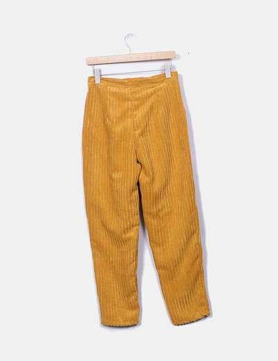 Pantalón mostaza pana