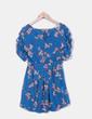 Vestido azul floral Pull&Bear